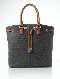 Talbots - Flannel Drawstring Shoulder Bag | Handbags |