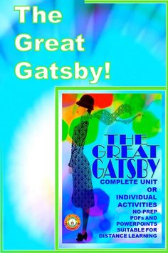LOOKING FOR ENGAGING AND RELEVANT ACTIVITIES FOR THE GREAT GATSBY? Explore resources including reading and discussion guides, formative and summative assessments including tests and essay prompts, color symbolism presentation and activity, characterization, creative projects and collaboration opportunities. Digital enabled pdfs for in class or online distance learning. Suitable for any level of high school student. No prep for busy teachers! Compelling, engaging, relevant, fun! Creative Activities, Learning Activities, Formative And Summative Assessment, Color Symbolism, F Scott Fitzgerald, Essay Prompts, The Great Gatsby, High School Students, Prepping