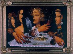 """www.culture.gouv.fr - Serguei Parajanov - """"La Cène"""" - """"quelques épisodes de la vie de La Joconde""""                               la joconde collage - Recherche Google"""
