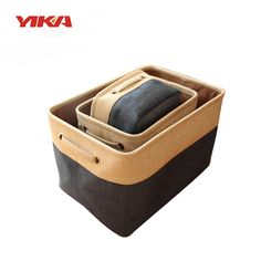 YIka Multi-Function Clothing Toys Organizer Cotton box Storage Box  car Storage bag pocket Bins Blue/Grey/Brown Size S/M/L