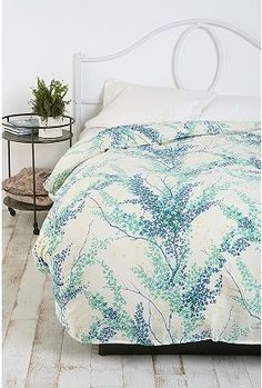 Urban Outfitters Breezy Branch Duvet Cover Full Queen Bedding | eBay
