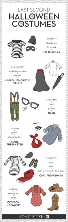 Costume Ideas with Items from your closet! Halloween Pinterest - halloween costume ideas from your closet