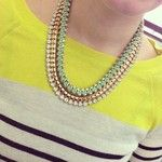 Pastel Twist Gem Strand Necklace | BaubleBar