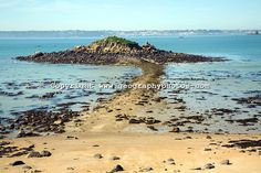 isle and causeway Island of Herm, Channel Islands, Great Britain