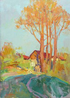 """Saatchi Art Artist Aleksandr Kryushyn; Painting, """"Autumn sun"""" #art"""