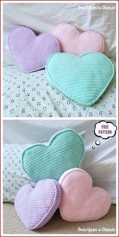 Most current Absolutely Free Crochet pillow free Ideas Candy Heart Pillow Free Crochet Pattern Crochet Home, Crochet Gifts, Cute Crochet, Easy Crochet, Knit Crochet, Crochet Owls, Crotchet, Crochet Pattern Free, Crochet Motifs