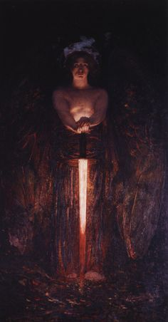 Edwinn H. Blashfield - Angel with the flaming sword (1890-1891)