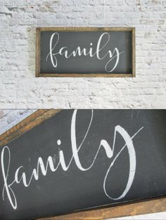 This adorable wood sign looks great as an addition to a gallery wall. The wood always gives a nice rustic touch to any room. This sign is small enough to stand on a shelf or be hung on a wall. #family #familysign #farmhouse #farmhousestyle #farmhousedecor #rusticdecor #gallerywall #gallerywallsign #woodensign #woodenart #ad