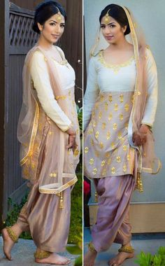 Style Salwar Suit, with Payal (on ankle) and Maang Tikka (on hair) Jewelry