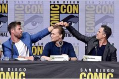 """""""Combining our superbro powers"""" - Mark Ruffalo at the ragnarok SDCC 2017 panel"""