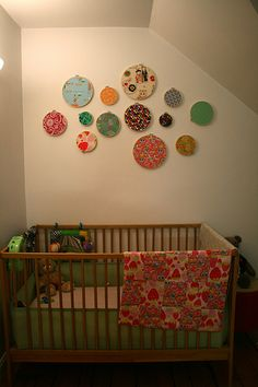I love the simplicity of the wall hangings