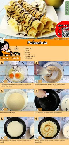 Pancake recipe with video - a simple recipe for pancake batter - You have to try this pancake recipe with video. The pancake recipe video is easy to find using the - Vegan Breakfast Recipes, Raw Food Recipes, Cooking Recipes, Sports Food, Hungarian Recipes, Sweet Desserts, Healthy Baking, Food Inspiration, Food To Make
