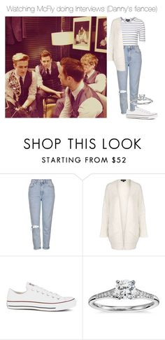 """""""Watching McFly doing Interviews (Danny's Fiancee)"""" by xkidinthedarkx ❤ liked on Polyvore featuring Topshop, Converse, Blue Nile, mcfly and DannyJones"""