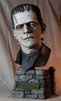 Frankenstein bust - Boris Karloff as the Monster