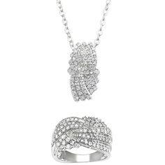Bague M6 BOUTIQUE, achat pas cher Bague croisade diamants + pend prix promo  M6 Boutique 319.98 € TTC au lieu de 519.98 € 6bd178d962a
