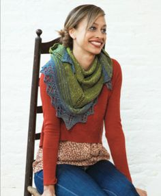 The Fibre Company Acadia Quaking Aspen Shawl. Free knit pattern.