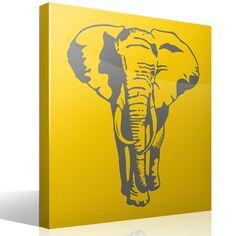 El elefante es el animal terrestre más grande. Además, las elefantas tiene el periodo de gestación más largo, de 22 meses. Los elefantes viven entre 50 y 70 años. A este majestuoso mamífero se le atribuyen una serie de comportamientos asociados a la inteligencia: el duelo, el altruismo, la adopción, el juego, la compasión y el autorreconocimiento. Con este vinilo decorativo podrás poner uno de los grandes mamíferos en tu pared.