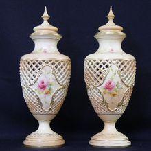 Grainger & Co Royal Worcester Porcelain Vases, 1901