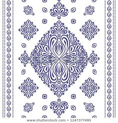 Find Blue White Ornamental Seamless Pattern Vintage stock images in HD and millions of other royalty-free stock photos, illustrations and vectors in the Shutterstock collection. Vintage Patterns, Embroidery Designs, Paisley, Royalty Free Stock Photos, Blue And White, Packaging, Textiles, Indian, Traditional