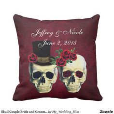Skull Couple Bride and Groom Custom Wedding