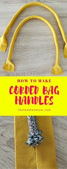 CORDED BAG HANDLES SEWING TUTORIAL -Learn how to sew sturdy handles for handbags and totes. This simple tutorial will teach you how to make corded handles the easy way!