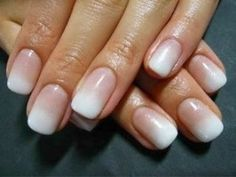 OMBRÉ Traditional French tipped nails with ombre? Can we say, genius? Not only does it look more natural, it is so much easier to achieve this look yourself, than the...