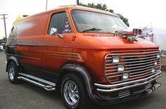 Custom 70's Chevy showvan