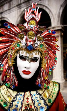 perhaps a DoDEA teacher in disguise during the Venetian Carnival?