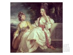 Mrs Thrale and Her Daughter Hester 1777-78 Giclee Print
