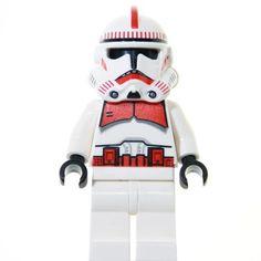 LEGO Star Wars Minifigur - Clone Trooper, rot (2008)