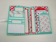 Stampin Up Wallet Smash Book. I think this would be cute kept simple so that you could use it as as smash on the go. Included several big pockets with several pages so you could smash/jounral.