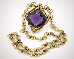 Tiffany Amethyst Necklace (G10538) from the National Gem Collection