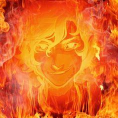 Leo on fire. Art by the AMAZING Viria... flamified by @musicloversj via photofunia app.