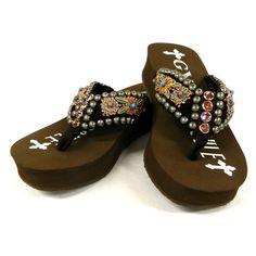 e986a20a063afa Gypsy Soule Henna Embellished Flip Flops  219.95