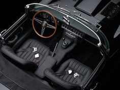 Black Beauty, the record-setting 1966 Jaguar E-type. While multi-million-dollar cars dominated yesterday's RM and Sotheby's Art of the Automobile auction in Man Harley Davidson, 2013 Jaguar, Jaguar E Type, Jaguar Cars, Black Jaguar, Mans World, Vintage Cars, Retro Cars, Cool Cars