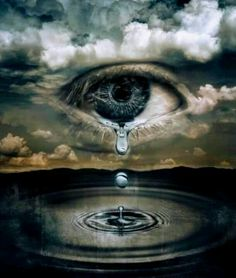 Crying Sky. #Eyes #Surreal #art 'love you nisha'