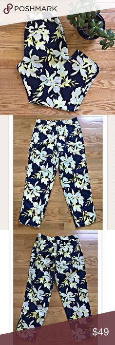 Selling this NWT Talbots Floral Print Linen Pants Elastic Waist on Poshmark! My username is: davias_closet. #shopmycloset #poshmark #fashion #shopping #style #forsale #Talbots #Pants
