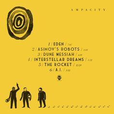 Back cover for Ampacity's album 'Eden' - vinyl