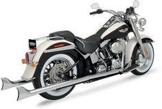 Harley Davidson. So beautiful and you gotta love the sound of a fishtail exhaust
