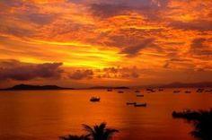 Pôr do sol em Ponta das Canas- SC