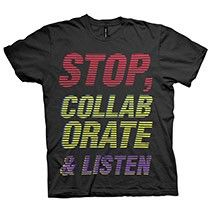 Stop Collaborate Listen T-shirt Vanilla Ice remix