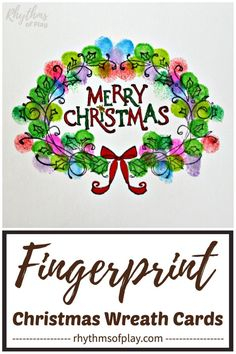 Use this fingerprint wreath Christmas craft hack to make handmade Christmas fingerprint art cards with kids at home or in the classroom! Parents and grandparents love homemade Christmas cards from the kids! Christmas Arts And Crafts, Homemade Christmas Cards, Handmade Christmas Decorations, Christmas Cards To Make, Christmas Activities, Christmas Diy, Christmas Wreaths, Celebrating Christmas, Company Christmas Cards