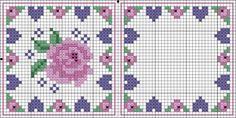 Would be wonderful needle case. Biscornu Cross Stitch, Cross Stitch Rose, Cross Stitch Flowers, Cross Stitch Embroidery, Embroidery Patterns, Cross Stitch Patterns, Cross Stitch Boards, Square Quilt, Cross Stitch Designs