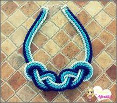 Resultado de imagem para collar de cordon de seda