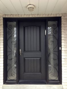 ✔ 45 spectacular wooden front door designs for your home inspiration 6 Single Door Design, Wooden Front Door Design, Double Door Design, Wooden Front Doors, House Front Design, Black Front Doors, Craftsman Front Doors, Front Door Paint Colors, Exterior Doors