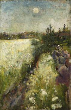 Edvard Munch (1863-1944), Blomstereng på Veierland - 1887                                                                                                                                                                                 Plus
