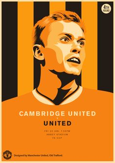 Match poster: Cambridge United vs Manchester United, 23 January 2015. Designed by @manutd.