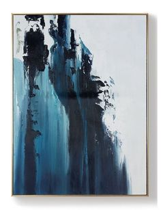 house room design decor wall art Large Dark Blue Abstract Painting, White Abstract Painting, Large Wall Decorative Art, Abstract painting of Giant Peak Landscape, Abstract Art Simple Acrylic Painting Ideas: Abstract Landscape - Abstract Acryl Blue Abstract Painting, Abstract Canvas, Oil Painting On Canvas, Abstract Painting Techniques, Large Painting, Acrylic Paintings, Portrait Paintings, Your Paintings, Original Paintings