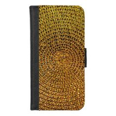 Gold Spiral Pattern iPhone 8/7 Wallet Case - patterns pattern special unique design gift idea diy