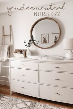 Baby Room Design, Baby Room Decor, Nursery Room, Girl Nursery, Nursery Dresser, Nursery Decor, Baby Bedroom, Nursery Design, Nursery Mirror